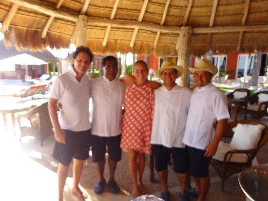 Zoetry Paraiso de La Bonita:                                     The amazing staff at the pool. Love Antonio, Miguel, Federic
