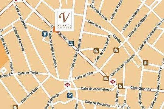 Hotel Vincci Via 66: Map