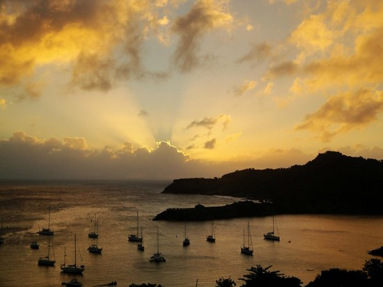 Blue Moon Antigua:                                     Sunset view from our villa