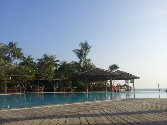 The Palm Beach Resort:                                     View from the bungalo