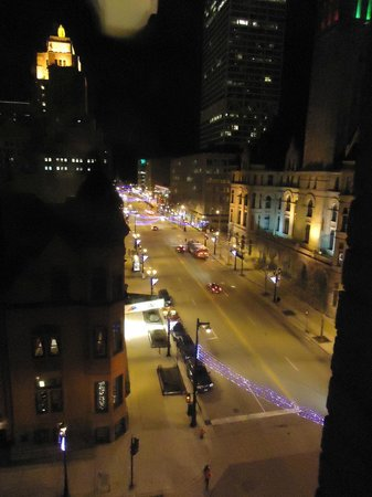 The Pfister Hotel:                   Corner suite view