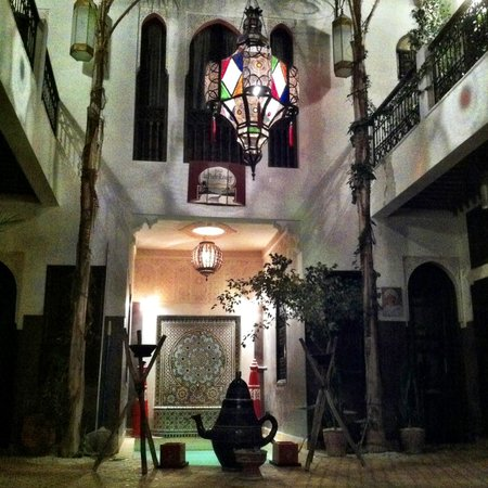 Riad La Porte Rouge:                   The Courtyard