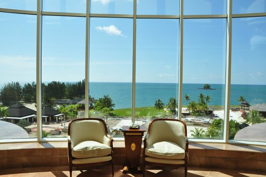 The Empire Hotel & Country Club: view out to sea