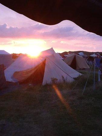 Camping Stortemelk :                                     zonsopgang