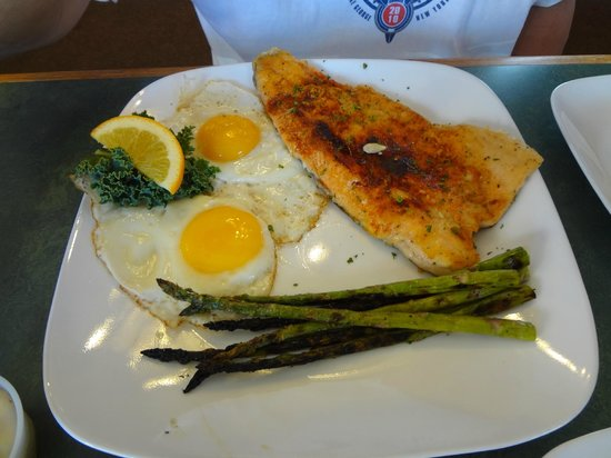 Red Rock Cafe:                   Breakfast trout, special of the day