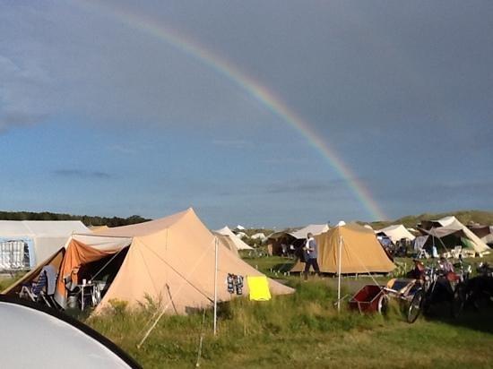 Camping Stortemelk :                                     uitzicht over camping