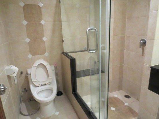 Whitehouse Condotel:                                     Toilet with shower stall
