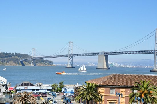 Hotel Vitale, a Joie de Vivre hotel: views of Bay Bridge from rooftop