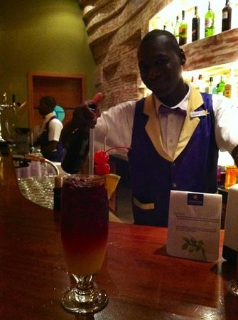 Iberostar Rose Hall Suites:                   Garfield, bartender at the lobby bar and disco