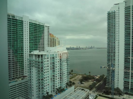 Conrad Miami: The view of the bay (don't select this hotel for the view!)
