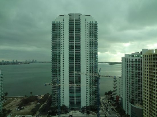 Conrad Miami: The view of the bay, blocked by a huge building