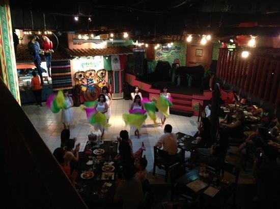 Amigos Restaurant Jakarta:                   belly dance in Mexican restaurant