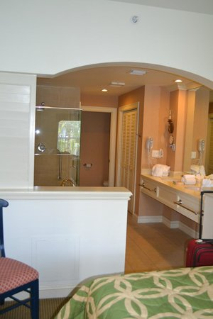 Hyatt Beach House Resort:                   the master bathroom