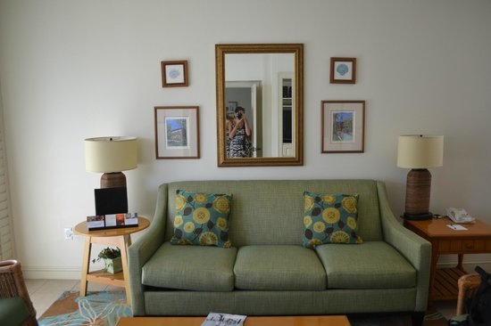 Hyatt Beach House Resort:                   The family room area