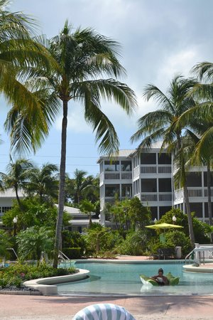 Hyatt Beach House Resort:                   The pool area