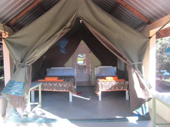 Rhino Tourist Camp: Our tented rooms