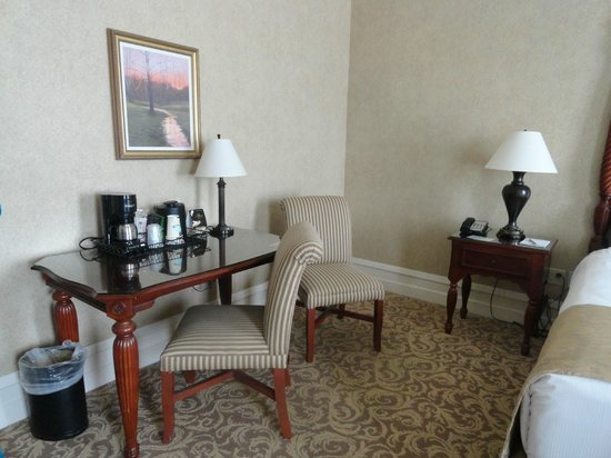 French Lick Springs Hotel:                   Table with coffee