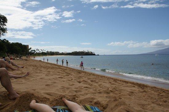Kahekili Beach:                   Looking toward Black Rock from main facilities.