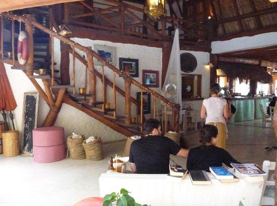 Holbox Hotel Casa las Tortugas - Petit Beach Hotel & Spa:                                     Entrance to Casa Tortuga's restaurant