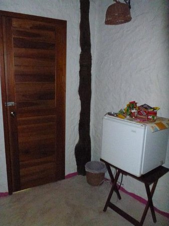"Holbox Hotel Casa las Tortugas - Petit Beach Hotel & Spa:                                     Small fridge in ""Honeymoon"" room - a feature not all rooms h"
