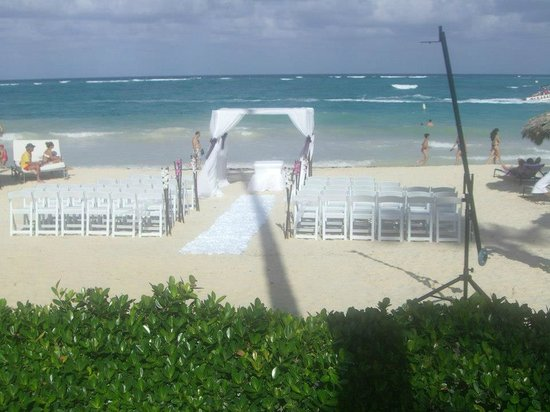 Paradisus Punta Cana:                   Beach setup for our wedding