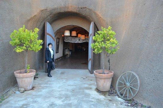 Bella Vineyards and Wine Caves:                   Bella tasting room entrance
