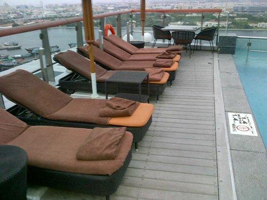 Hilton Dubai Creek:                   Deck Chairs