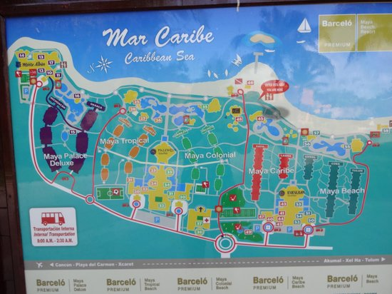 Barcelo Maya Palace :                   The site is huge...