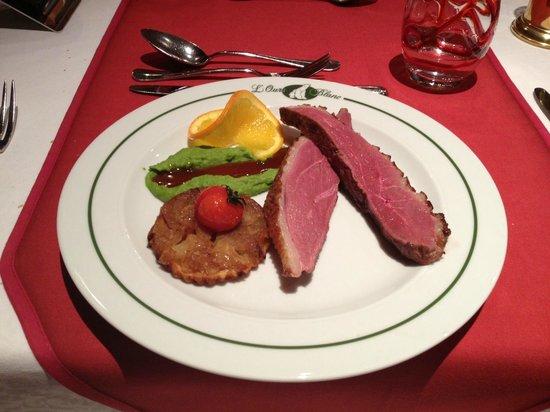 L'OURS BLANC RESTAURANT :                   Restaurant L'Ours Eendenborst.