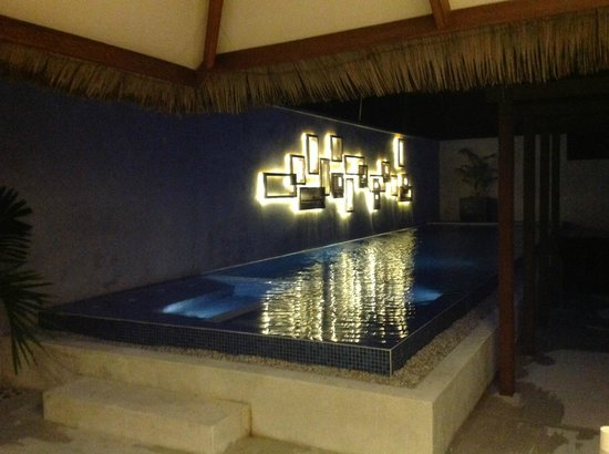 Kuramathi Island Resort:                   Night time in the honeymoon villa