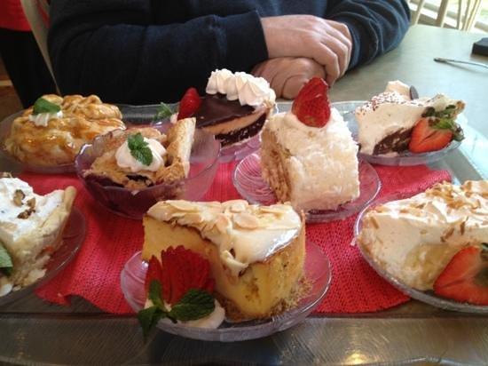 Josephine's Tea Room & Gifts:                   dessert tray