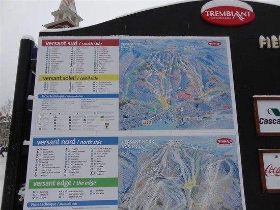 Le Sommet des Neiges :                                     Ski Map