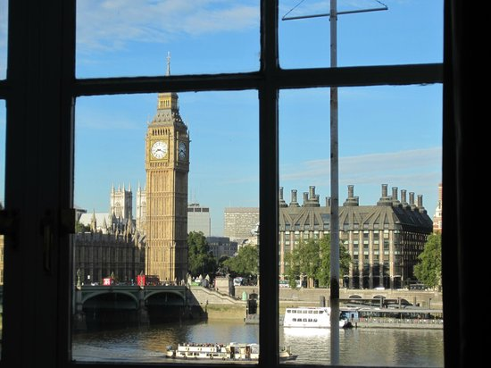 London Marriott Hotel County Hall:                   Big Ben from our room