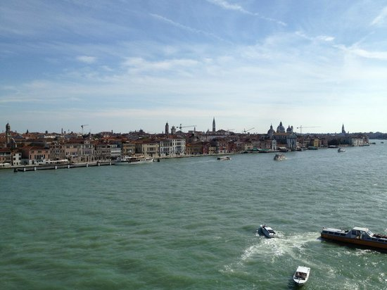 Hilton Molino Stucky Venice Hotel:                   View from room Window towards San Marco