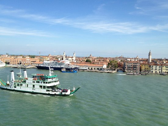 Hilton Molino Stucky Venice Hotel:                   View from Room towards Train station