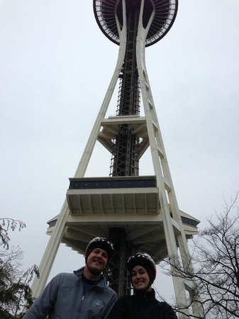 Space Needle on Seattle Cycling Tours
