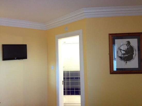 Celtic Royal Hotel:                   Tiny telly and strange rather unsettling picture