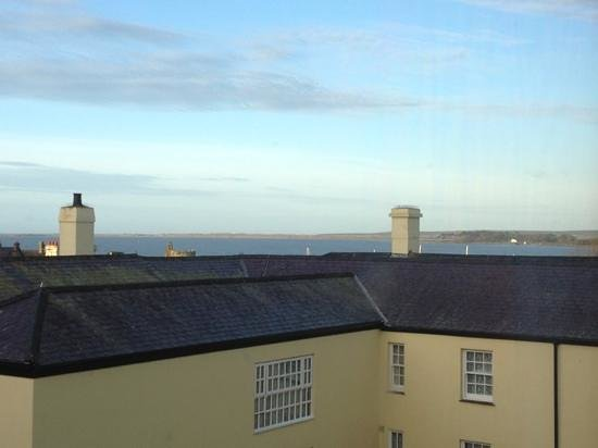 Celtic Royal Hotel:                   View out of the room. The camera doesn't really do it justice. It was a lot be