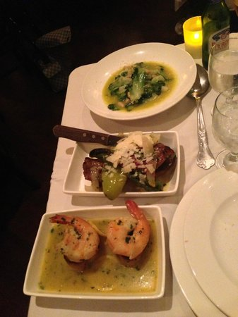 Macaluso's: Appetizers, my jump shrimp scampi