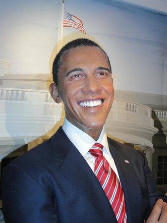 Madame Tussauds Hollywood:                   Obama na Madame Tussauds