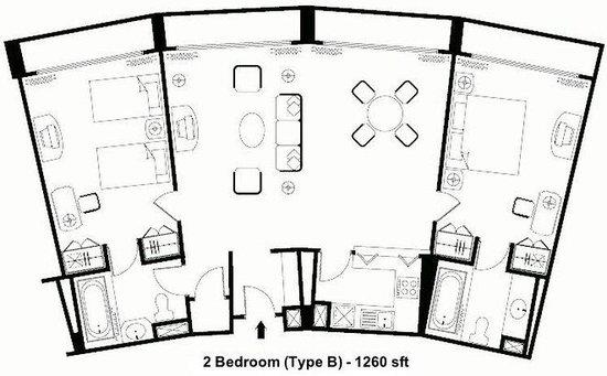 2 bedroom layout picture of ambassador row hotel suites for G plan bedroom suite