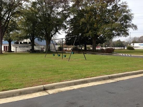 Ambassador Inn:                   swing set.