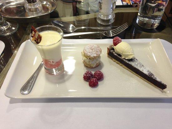 Clink Cardiff:                   Trio of desserts. Yum!