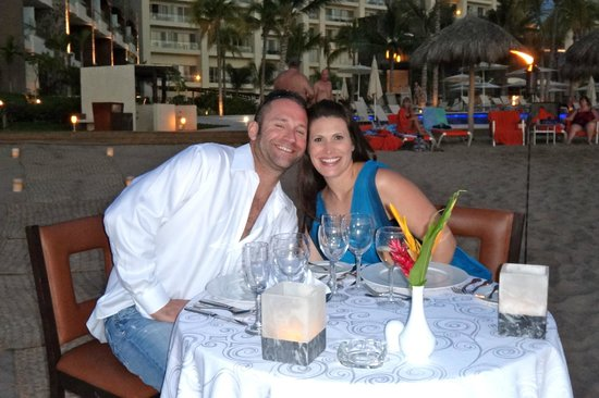 Now Amber Puerto Vallarta:                   Private beachside dining...right at sunset