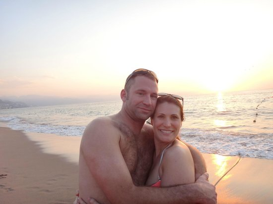 Now Amber Puerto Vallarta:                   Sunset on our first day...we were on the beach with a drink in-hand within 25
