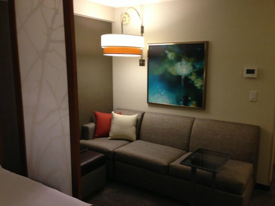 Hyatt Place San Jose/Downtown:                   Room Couch Area