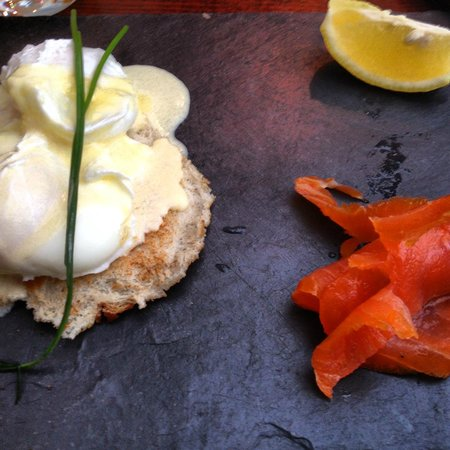 Ariel House:                   Smoked salmon and poached eggs