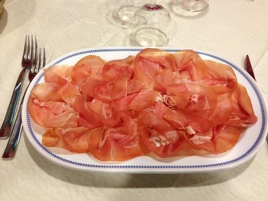 ristorante filiberto :                   piatto di prosciutto