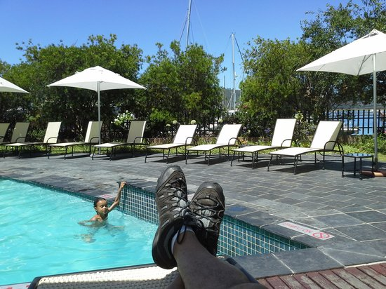 Protea Hotel Knysna Quays:                   Lazy morning at the pool.