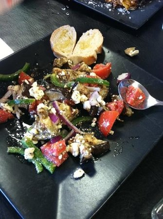 Stagecoach Place Cafe:                   egg plant salad